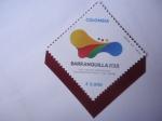 Stamps : America : Colombia :  XXIII Juegos Deportivos Centroamericanos y del Caribe - Barranquilla 2018.Colombia.