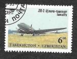 Sellos del Mundo : Asia : Uzbekistán :  88 - Aviones Militares