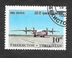 Stamps : Asia : Uzbekistan :  93 - Aviones Militares