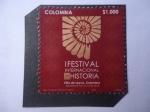 Stamps : America : Colombia :  1er Festival Internacional de Historia - Villa de Leiva-Boyacá(Sep.14,15 y 16 del 2018-Colombia
