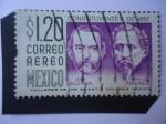 Stamps : America : Mexico :  León Guzmán (1821-1884) Inacio Ramirez (1818-1879) - Constitución de 1857