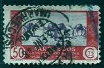 Stamps Morocco -  Carabana de camellos