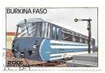 Sellos de Africa - Burkina Faso -  locomotoras