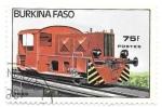 Sellos del Mundo : Africa : Burkina_Faso : locomotoras
