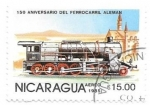 Stamps Nicaragua -  locomotora