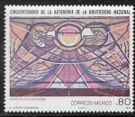 de America - México -  Alegoría de la Cultura Nacional, por David Alfaro Siqueiros, Ciudad Universitaria, Cd Mx