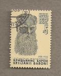 Sellos de Europa - Rusia -  Baron Krushjanis, folklorista lituano