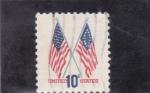 de America - Estados Unidos -  banderas estado unidenses