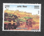 Sellos de Asia - India -  Fuerte de Amber