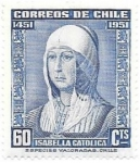 Stamps Chile -  Isabel la católica
