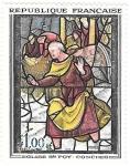 sello : Europa : Francia : Iglesia de Foy