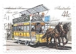 Sellos del Mundo : Oceania : Australia : Tranvía hipomovil
