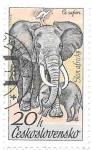 Sellos del Mundo : Europa : Checoslovaquia : Elefantes