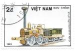 Sellos del Mundo : Asia : Vietnam : locomotora