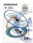 sello : America : Honduras : Aniversarios