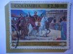 de America - Colombia -  Sesquicentenario de la Campaña Libertadora 1819-1969 - Entrada Triunfal del Ejercito a la Plaza Prin