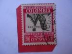 Sellos del Mundo : America : Colombia : Bananos - Sobre Porte Aéreo - Racimo de Plátano..