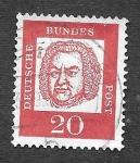 Sellos del Mundo : Europa : Alemania : 829 - Johann Sebastian Bach