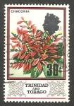de America - Trinidad y Tobago -  241 - Flor chaconia