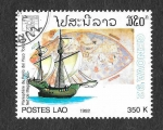Stamps Laos -  1087 - Naves y Mapas