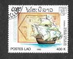 Stamps Laos -  1088 - Naves y Mapas