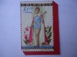 Stamps America - Colombia -  Luz Marina Zuluaga (1938-2015) - Mis Universo 1959 - Modelo y Reina de Colombia