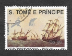 Sellos de Africa - Santo Tomé y Principe -  891 - Pintura de Caravelas Mercantes
