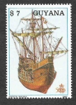 Stamps Guyana -  1868a - Barco