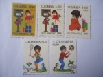 Stamps America - Colombia -  Navidad 1961 - Escena Navideñas