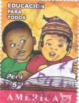 Sellos del Mundo : Europa : Perú : educación para todos  -UPAEP
