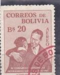 Sellos del Mundo : America : Bolivia :  President Estenssoro hugging Native