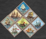 Stamps Paraguay -  1544 - Barcos Veleros