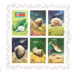 Sellos de Asia - Corea del norte -  conchas