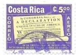 Sellos de America - Costa Rica -  declaración de independencia