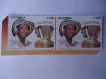 Stamps America - Colombia -  Gilberto Alejandro Durán Díaz (1919-2019)- Primer Rey Vallenato 1968