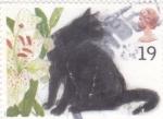 Sellos de Europa - Reino Unido -  gato negro