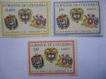 Stamps America - Colombia -  Visitas de los presidentes de Chile y Venezuela (Agosto de 1966) a Colombia - Escudos de Armas.