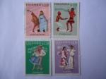 Stamps America - Colombia -  Chicha Maya - Currulao - Banbuco - Cumbia - Folclor Colombiano- Músicacas Regionales.