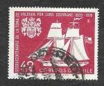 Stamps Chile -  384 - 1L Aniversario de la Captura de Valdivia