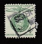 Stamps United States -  Garibaldi, campeón de la lbertad