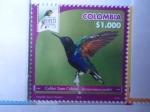 Sellos de America - Colombia -  Colibrí Siete Colores - Boissoneaua Jardini - Risaralda Bird Festival 2018.