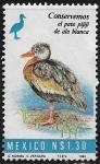 Stamps Mexico -  Conservemos el Pato pijiji de ala blanca