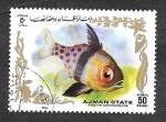 Stamps United Arab Emirates -  Mi1317A - Pez Tropical