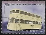 Sellos del Mundo : America : Argentina : Tranvía: Corporación de Transporte dela Cd de Buenos Aires, 1942
