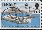 Sellos de Europa - Isla de Jersey -  60 Aniversario de la Apertura del Aeropuerto de Jersey