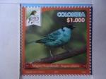 Sellos del Mundo : America : Colombia : Tángara Nuquidorada - Tanga Rufiservix - Risaralda Bird Festival 2018ra