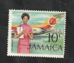 Stamps : America : Jamaica :  361 - Azafata de vuelo