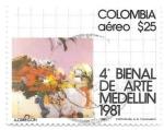 Sellos del Mundo : America : Colombia : bienal de arte