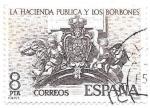 Sellos de Europa - España -  la hacienda y los borbones