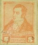 Stamps : America : Argentina :  Rivadavia  Año 1892